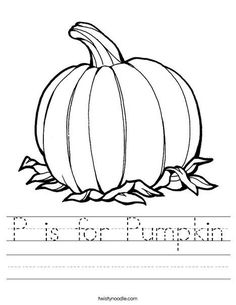 P is for Pumpkin Wor