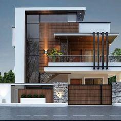 Modern Exterior House Designs, Best Modern House Design, Modern Villa Design, Dream House Exterior, Exterior Design, House Gate Design, 2 Storey House Design, House Front Design, Design Villa Moderne