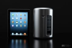 Mac Pro 2013 3D Printed for Early Side-by-Side Photographs