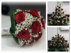 Irene eligió nuestro pack 'Tu Boda en Rosas' y hoy esta dando el sí quiero rodeada de rosas rojas, sus preferidas. Gracias por confiar en nosotros! Que seáis enormemente felices! # novias #boda #rosas #bouquet #wedding #weddingbouquet #roses #rosarojas #redroses #floristeriakalatea #floristeriavillaverde #floristeriamadrid #floristeriaciudaddelosangeles