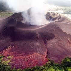 Taking in Mount Yasur volcano from the air! ⠀ #keepcalmandjastravel Mount Yasur, Tanna Island, Vanuatu