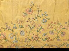 Czech underskirt, embroidered yellow silk, late 18th c, the Met
