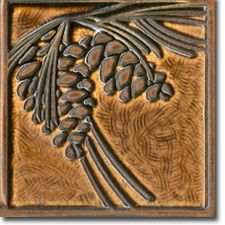 This tile is no longer available, but good link to Craftsman reproduction tiles. Art Nouveau Tiles, Art Deco, Ceramic Pottery, Ceramic Art, Ceramic Bowls, Craftsman Tile, Art And Craft Design, Clay Tiles, Style Tile