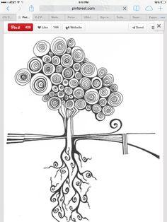 Ideas For Mandala Art Design Zen Tangles Shape Zentangle Drawings, Doodles Zentangles, Zentangle Patterns, Doodle Drawings, Easy Zentangle, Zen Doodle Patterns, Tangle Doodle, Tangle Art, Art Du Croquis
