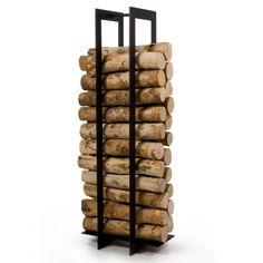 Accessoires de cheminée - Range bûches Blade, par Ak47 Design : achat en ligne sur Cerise sur la Déco
