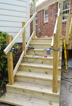 The Garage Steps Leading Into The House Need A Small
