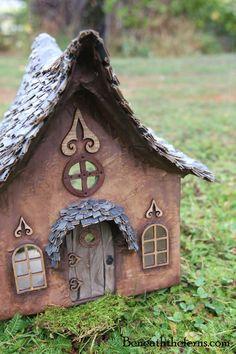 Miniature fairy house dollhouse fairy door from polymer clay