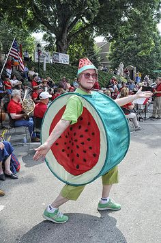 Bette Bond is the wacky watermelon lady who has made several appearances in the Boone 4th of July Parade.