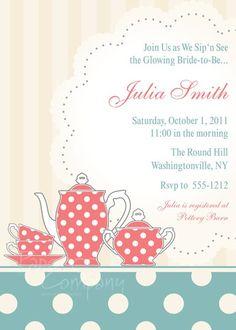 Bridal Shower Tea Party Invite