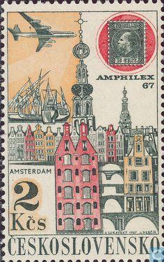 Postage Stamps - Czechoslovakia - PRAGA