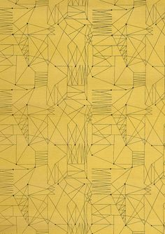 """Graphica"" is a furnishing fabric sample from British textile design maven Lucienne Day for Heal's. 1954."