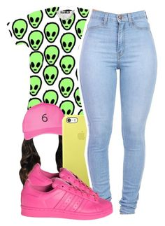 """""""6"""" by lovebrii-xo ❤ liked on Polyvore featuring October's Very Own and adidas"""