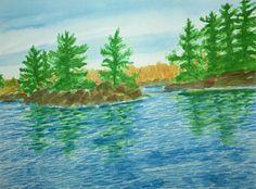 Painting by Suzanne Berton (Canada) Color Pencil Art, Colored Pencils, Watercolour, Original Art, Art Gallery, Photographs, Canada, Landscape, Gift