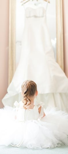 Beautiful...wedding photography little girl ponytail white dress flower girl
