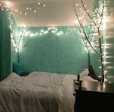 68 Christmas Lights In Bedroom Ideas Buy Christmas Lights, Christmas Lights In Bedroom, Colored Christmas Lights, Christmas Tree Images, Decorating With Christmas Lights, Christmas Colors, Christmas Decorations, Holiday Themes, Bedroom Lighting