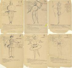 Dancers from Oskar Schlemmer's Triadic Ballet at the Bauhaus (1926)