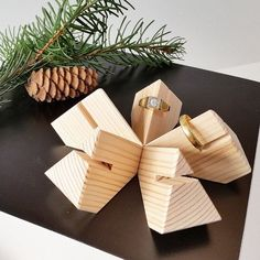 Ringholderset Modular Pine Wood Accessories by Wooddesigndforyou