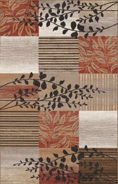 Brown Orange Rug Home Decor
