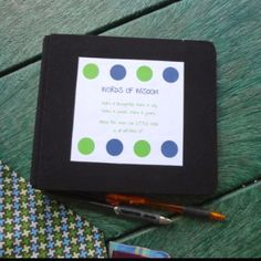 """Jude's """"Little Man"""" 1st birthday party. """"Words of Wisdom"""" book to give to Jude when he turns 18. """"Make it thoughtful... Make it silly... Make it sweet... Make it yours. Advice for when our LITTLE MAN is all GROWN UP"""". Guests leave advice."""