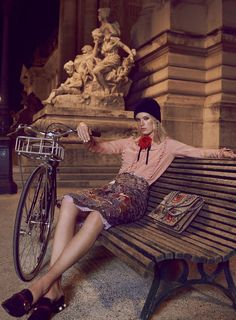 """""""Tour de France"""" Charlene Hogger by David Burton for Elle US January 2016"""