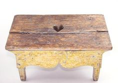 19th C. New England handmade, painted and elaborately carved footstool.#Repin By:Pinterest++ for iPad#