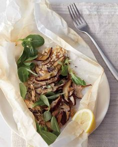 Shiitake Mushrooms and Brown Rice En Papillote