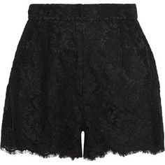 Shop for Lace Shorts - Black by Dolce & Gabbana at ShopStyle. Black High Waisted Shorts, Black Lace Shorts, High Rise Shorts, Short Shorts, Luxury Fashion, Outfits, Clothes, Women Shorts, Sicilian