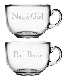 Loving this 'Nauti Girl' & 'Bad Buoy' Jumbo Mug - Set of Two on #zulily! #zulilyfinds