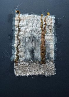 The Old Mausoleum. Unique Textile Art by Gothic Decay Hand Embroidery, Machine Embroidery, Old Sewing Machines, Tea Stains, Art Base, Textile Art, Decay, Fiber Art, Gothic