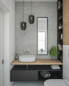 Gorgeous 60 Modern Farmhouse Small Bathroom Remodel Decor Ideas High-design fads not just look stunning however include worth to your bathroom remodel. Right here are our preferred bathroom renovation ideas to include currently. Bad Inspiration, Bathroom Inspiration, Interior Design Inspiration, Bathroom Ideas, Bathroom Grey, Design Ideas, Master Bathroom, Bathroom Small, Bathroom Storage