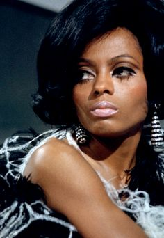Diana Ross on the set of the TCB TV special with The Supremes and The Temptations,1968