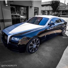 Instagram media by motor_head_ - Rolls-Royce Wraith Check out @stickercity and their insane wraps • Get the wet  look @stickercity  Clear Bra Paint Protection  Vehicle Restyling Wraps Chrome Delete