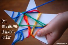 Christmas Crafts for Kids: Yarn Wrapped Ornaments - The Inspired Treehouse - christmas crafts for kids yarn ornaments 2 - Preschool Christmas, Christmas Star, Christmas Crafts For Kids, Christmas Activities, Simple Christmas, Christmas Projects, Preschool Crafts, Holiday Crafts, Craft Activities