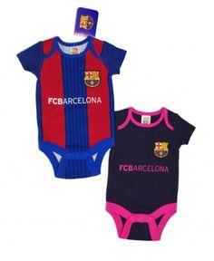 FC Barcelona Baby Kit 2 Pack Bodysuits - 2016 17 Barcelona Fc e9567a4b4