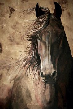 WISDOM 12x18 print from acrylic painting of a horse. Archival high quality print…