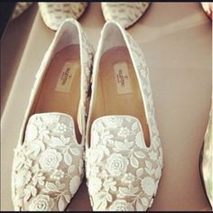 lace Valentino loafers