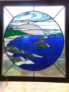 Ocean Moon - Delphi Stained Glass