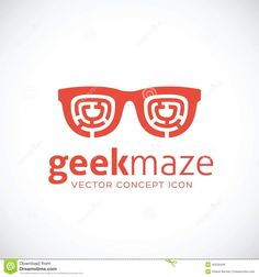 Geek Maze Vector Concept Symbol Icon Stock Vector - Image: 42536448