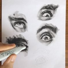"1,345 Me gusta, 15 comentarios - Eye Paint With Markers (@_karen.goins_) en Instagram: ""#wip #video #workinprogress #portrait #painting #eyes #illustration #drawing #sketch…"""