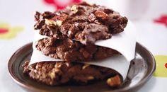 Chocokoekjes met pecannoten - Foodies