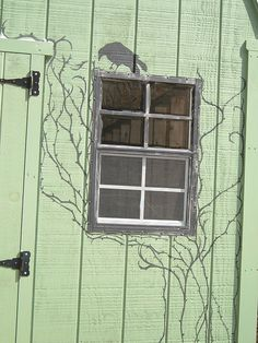 Hmm...the green matches the trim on my house..and i love crows, I have to think about this...