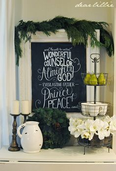 """Family Room . . . """"...and He will be called, Wonderful, Counselor, Almighty God, Everlasting Father, Prince of Peace."""" (Is. 9:6) . . . Stop 2 - Dear Lillie"""