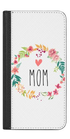 Casetify iPhone 7 Wallet Case - Mom by Allison Reich USE CODE: R7RAGW & GET DISCOUNT! #mothersday #mom #wallet #phonewallet #iphonewallet #floral #spring #flowers #mother #gift #gifts #love #xoxo
