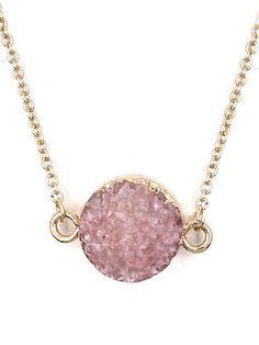 Pink Druzy Stone Gold Tone Chain Necklace Women Fashion Jewelry #DazzledByJewels #Chain #DazzledByJewels #fashion #fashionista #fashionstyle #style #styleinspiration #trend #trendy#trending #trends #jewelry #jewelryaddict #shopping #jewelryforsale #jewelryoftheday #jewelrybox #jewelrylovers #instyle #trendsetter #glam #gift #giftsforher #women #teen  #necklace #druzy