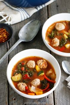Skip To RecipeThree things I love: veggies, soup in the Fall, and good 'ol meatballs! I also love a soup …