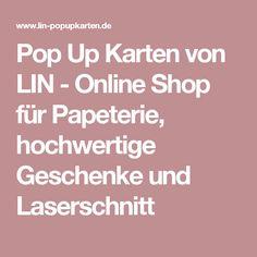 Pop Up Karten von LIN - Online Shop für Papeterie, hochwertige Geschenke und Laserschnitt