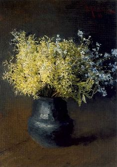 Forest violets and forget-me-nots, Isaac Levitan, 1889