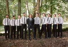 Dapper gents- Outdoor southern wedding | photo by Brandon Chesbro | 100 Layer Cake