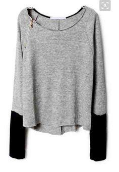 Would totally dig a top like this!  Black leggings/booties!!!!  Woohoo!