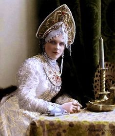 Princess Zenaida Nikolaevna Yussupova in 1903, dressed for a great costume ball.